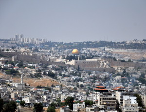 View of the Old City of Jerusalem from the Haas PromenadeJune 25, 2009