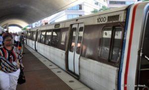 WMATA Rohr 1000, the lowest numbered car in the Metrorail fleet, at Silver Spring Station, September 14, 2016