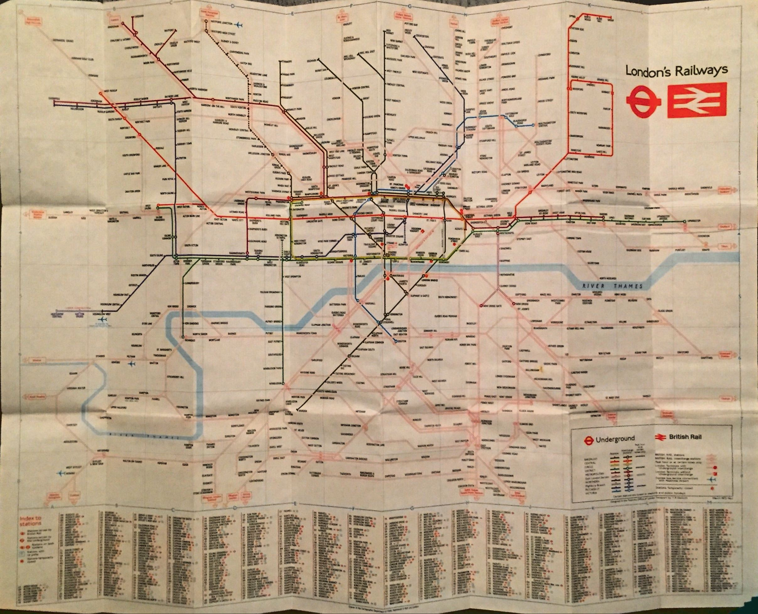Underground Map In London Taking a Look