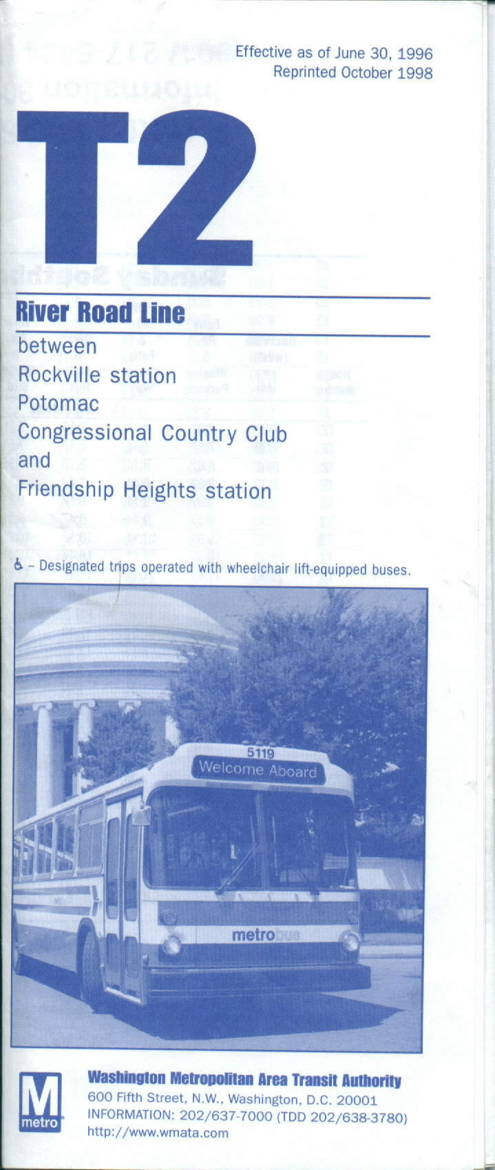 metrobus schedules over the years